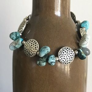 Silver & Turquoise Toggle Bracelet